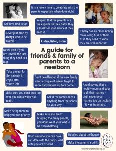 A guide for friends and family of parents to a newborn