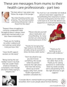 Breastfeeding messages to Health Care Professionals p2